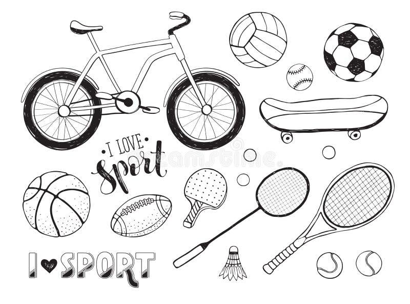 для рисунок спортивные принадлежности карандашом следите здоровьем гоните