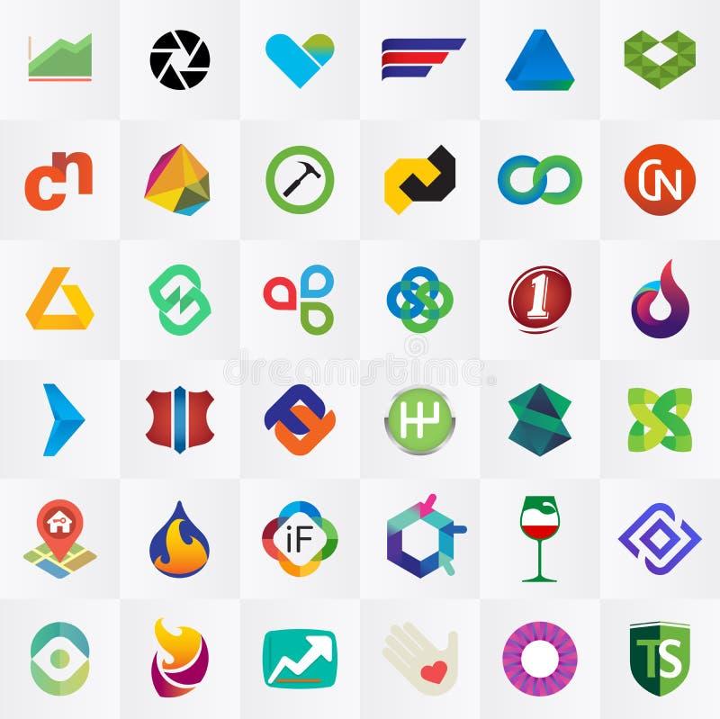 Собрание логотипа бесплатная иллюстрация
