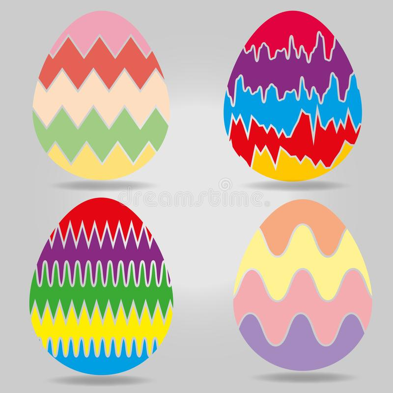 Собрание пасхальных яя стоковое изображение rf