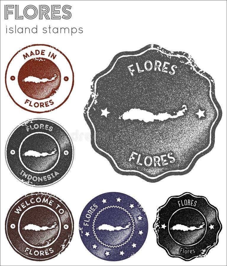 Собрание печатей Flores иллюстрация штока