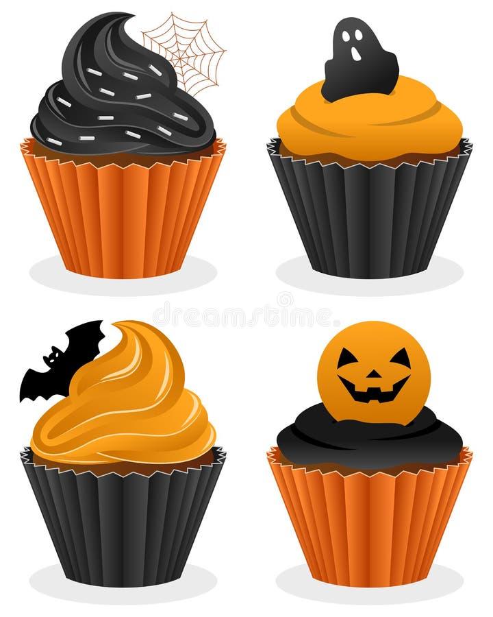 Собрание пирожных хеллоуина иллюстрация штока