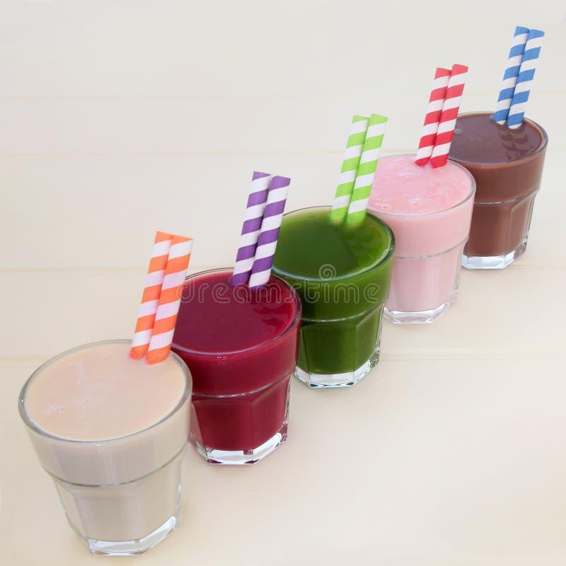 Собрание питья здоровой еды стоковые фотографии rf