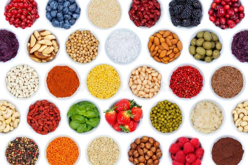 Собрание предпосылки овощей ягод плодоовощей чокнутой от abo стоковые фото