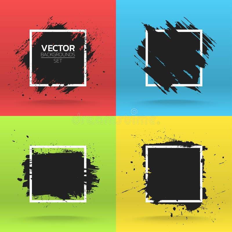 Собрание предпосылок Grunge иллюстрация вектора