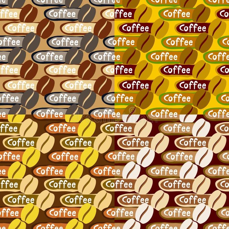Собрание предпосылок кофе иллюстрация вектора
