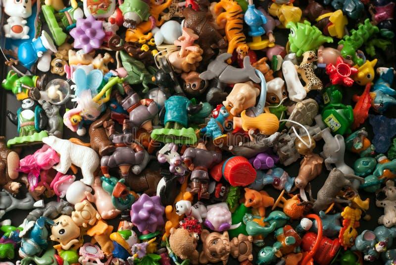 собрание пластичной игрушки, стоковые изображения