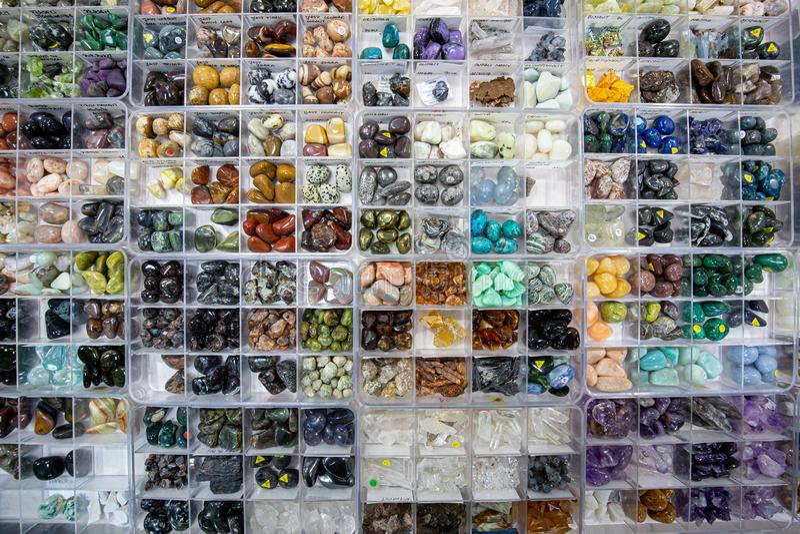 Собрание различных минералов стоковые фотографии rf