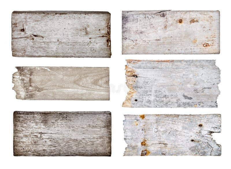 Собрание различного пустого деревянного знака стоковая фотография