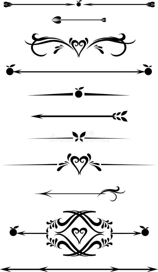Собрание рамки нарисованной рукой винтажной для украшения текста бесплатная иллюстрация
