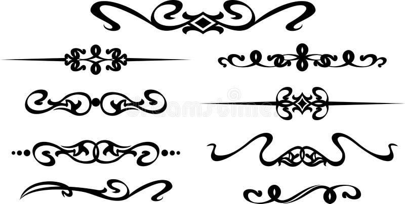 Собрание рамок нарисованных рукой современных для украшения текста иллюстрация вектора