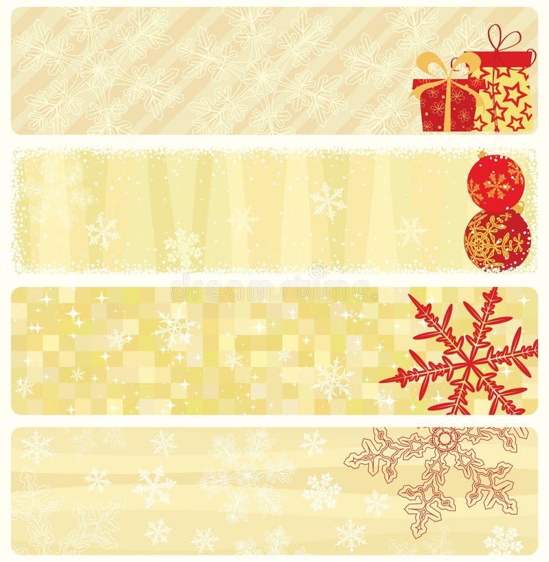 собрание рождества знамен бесплатная иллюстрация
