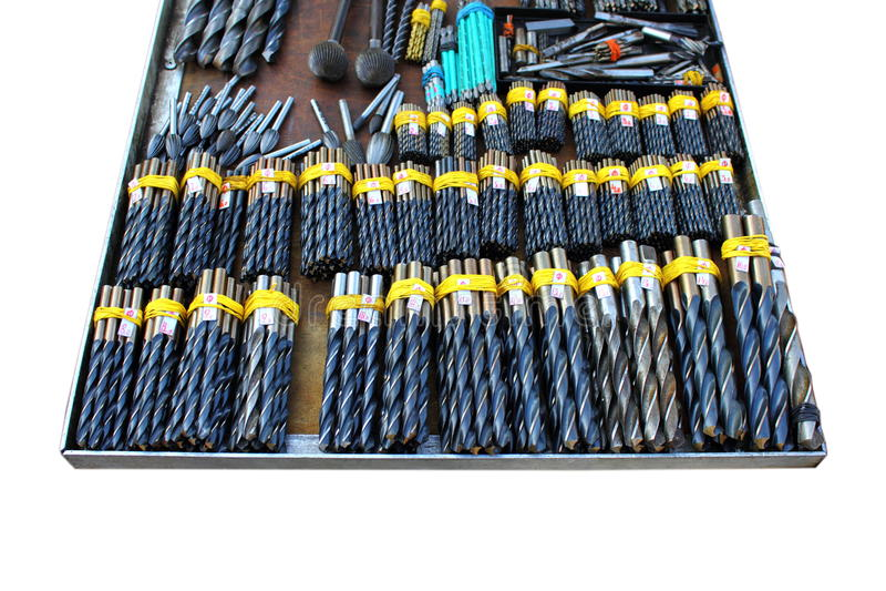 Собрание сверла металла стоковая фотография rf