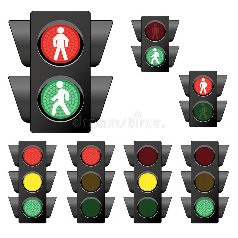 Собрание 1 светофора бесплатная иллюстрация