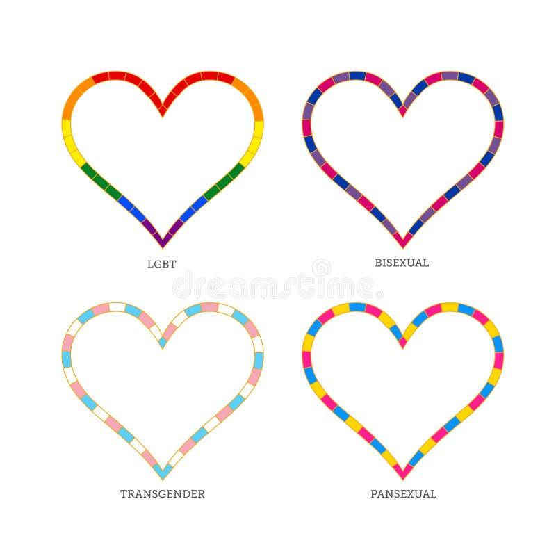Собрание символа сердца для странной общины стоковая фотография rf