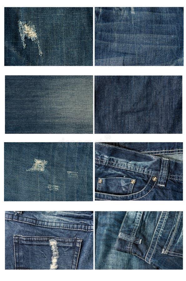 Собрание сильно детального джинсов Предпосылка и текстура стоковая фотография rf