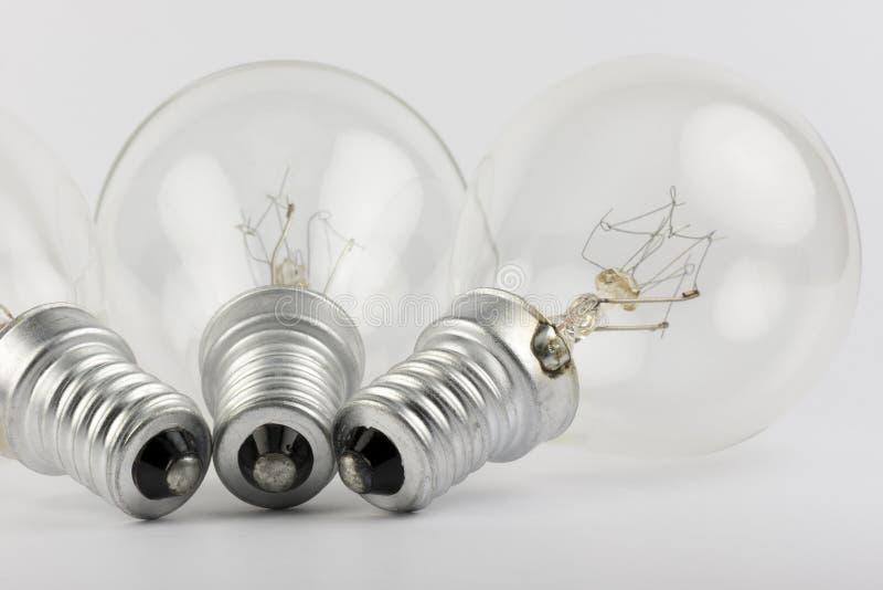 Собрание старых электрических лампочек стоковое фото rf