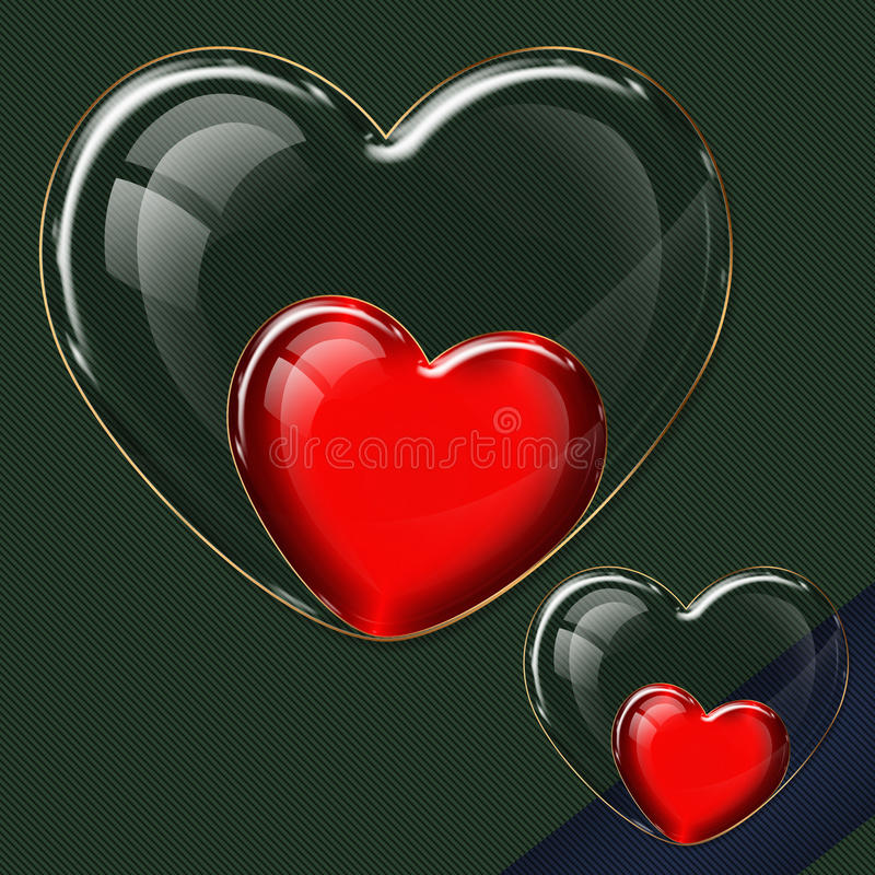 Собрание стекла сердца бесплатная иллюстрация