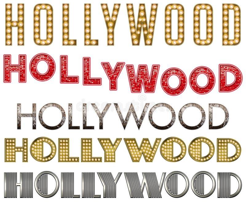 Собрание слова бурлеска шатёр Голливуда бесплатная иллюстрация