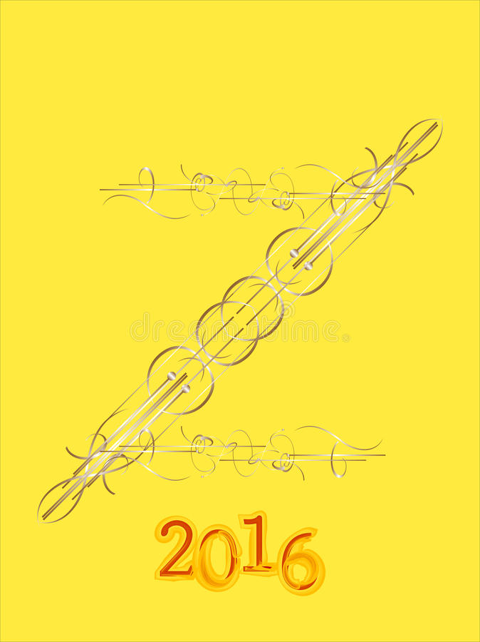 Собрание 2016 украшения рождества каллиграфические и типографские элементы, рамки иллюстрация штока