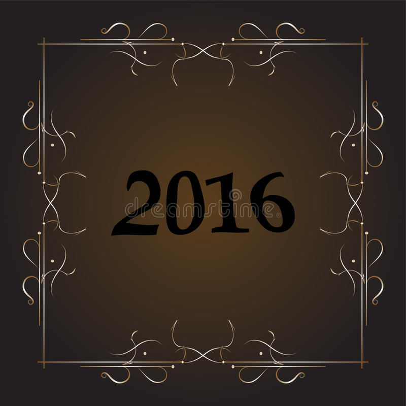 Собрание 2016 украшения рождества каллиграфические и типографские элементы, рамки, винтажный ярлык, лента, стикер бесплатная иллюстрация