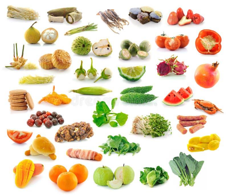 Собрание фруктов и овощей стоковая фотография