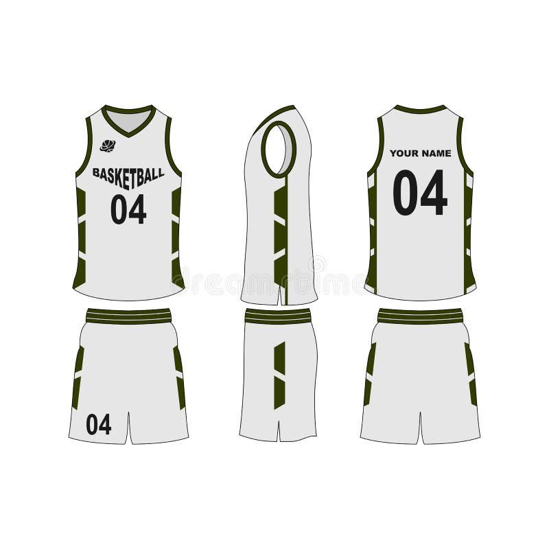 Собрание шаблона jersey баскетбола установленное стоковое изображение rf