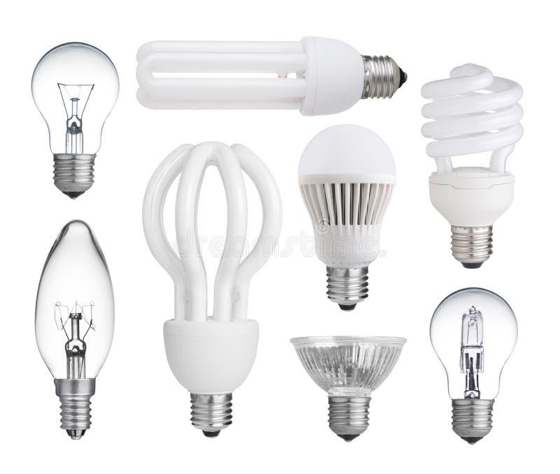 Собрание электрических лампочек стоковая фотография rf