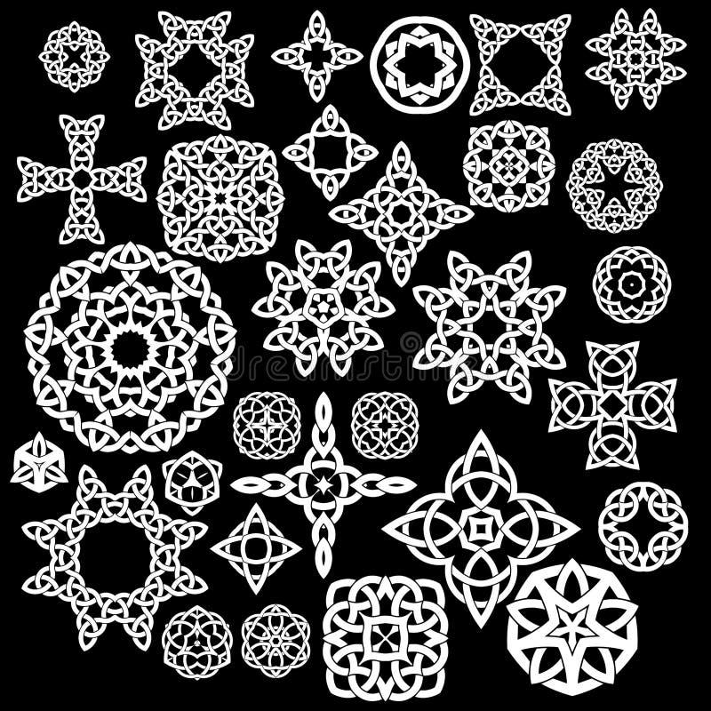 Собрание Celtic, 30 картин, комплекта векторов иллюстрация вектора