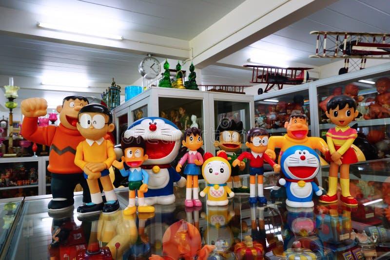 Собрание Doraemon, Nobita и шатий стоковые изображения