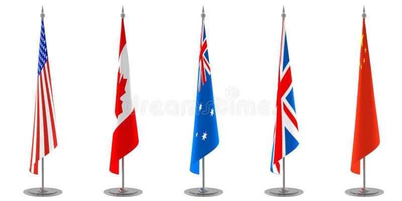собрание flags таблица бесплатная иллюстрация