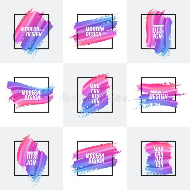 Собрание multicolor знамен иллюстрация вектора
