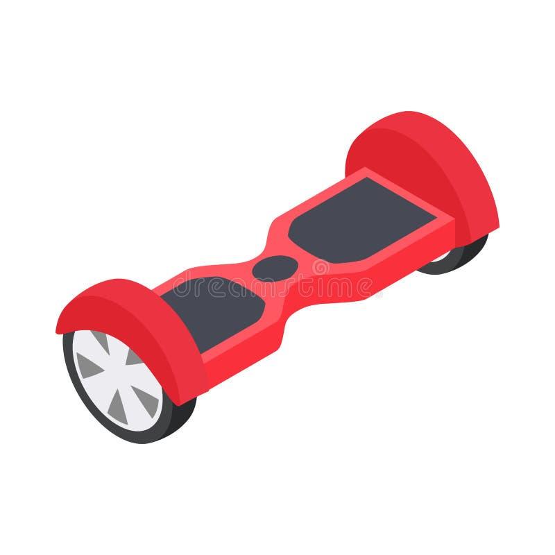 Собственная личность двойного колеса балансируя электрический значок скейтборда иллюстрация штока