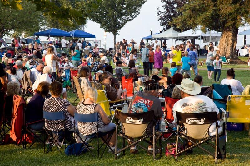 Событие на парке Lakeport Калифорнии библиотеки стоковое фото rf