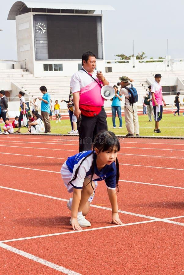 Событие дня спорта детей стоковая фотография rf