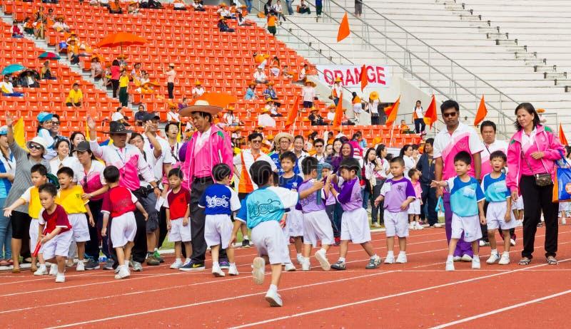 Событие дня спорта детей стоковое фото rf