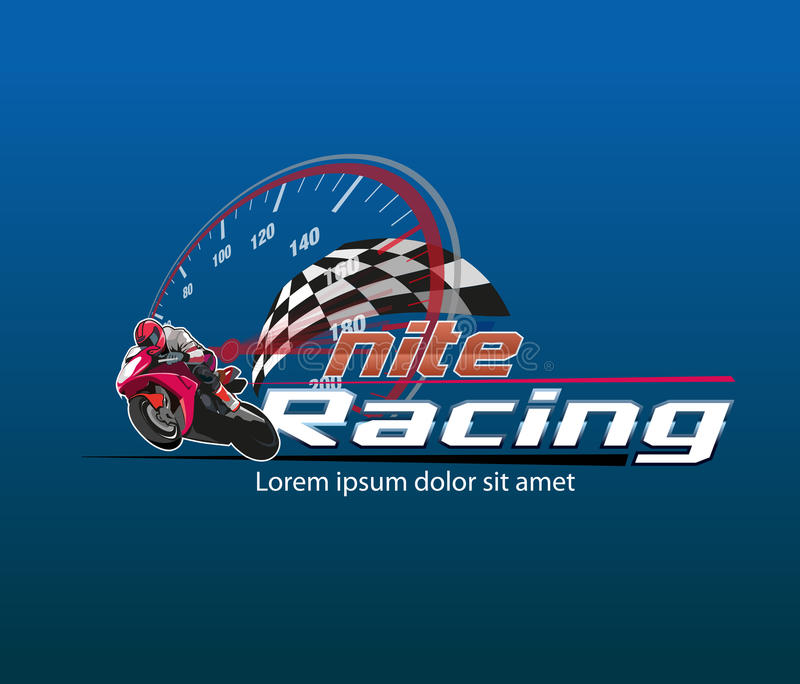 Событие логотипа гонок Nite иллюстрация вектора