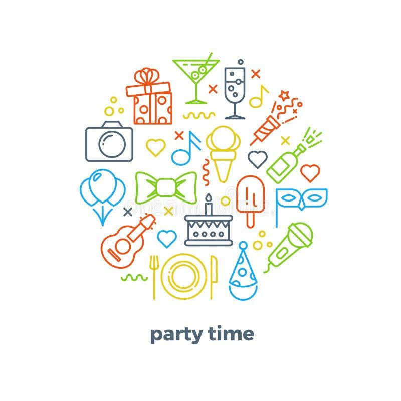 Событие, партия, развлечения, значки вектора плана масленицы праздничные бесплатная иллюстрация