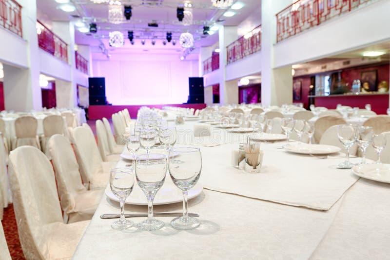 Событие ресторана Банкет, свадьба, торжество стоковое фото