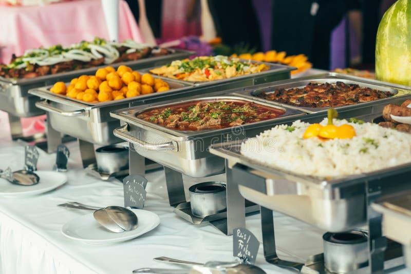 Событие свадьбы еды ресторанного обслуживании стоковая фотография rf