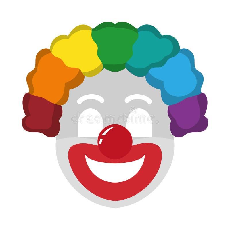 Событие торжества фестиваля клоуна цирка иллюстрация вектора