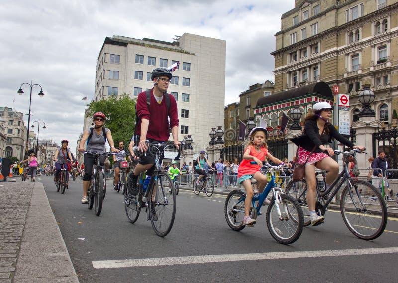 Событие RideLondon задействуя - Лондон 2015 стоковое фото rf