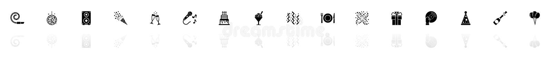 События - плоские значки вектора бесплатная иллюстрация