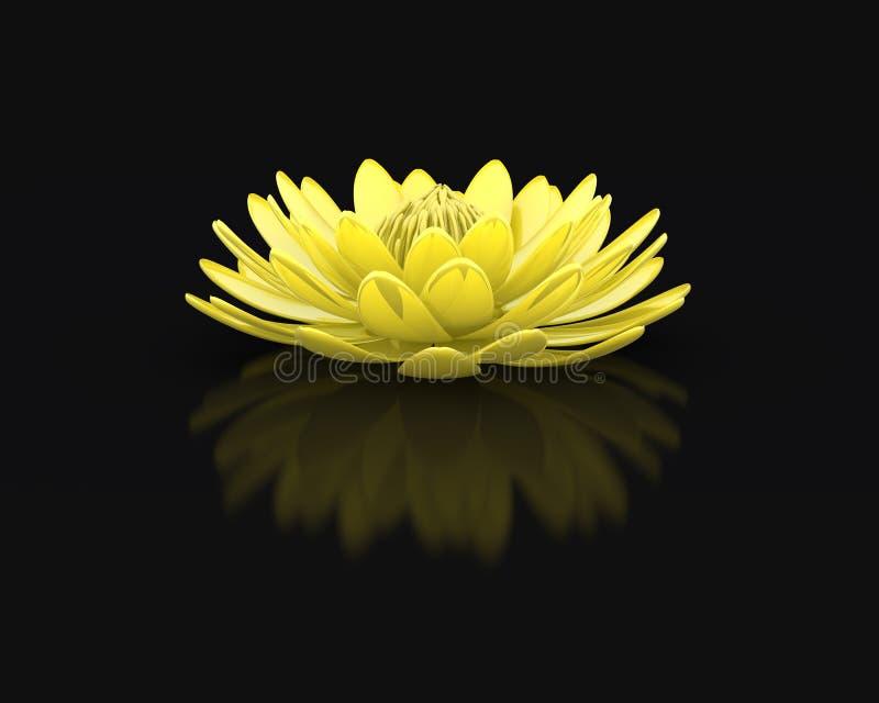 Совершенная золотая лилия воды лотоса иллюстрация штока