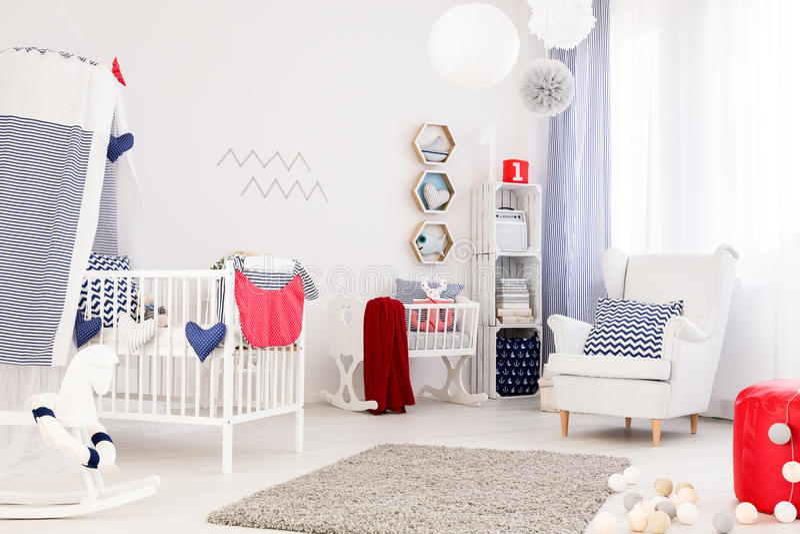 Совершенная комната младенца стоковая фотография rf