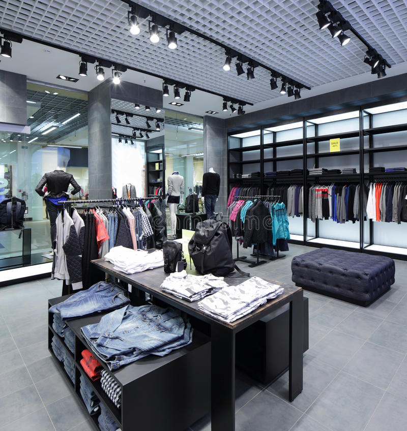 Download Совершенно новый интерьер магазина ткани Стоковое Фото - изображение насчитывающей lifestyle, ткань: 40575142