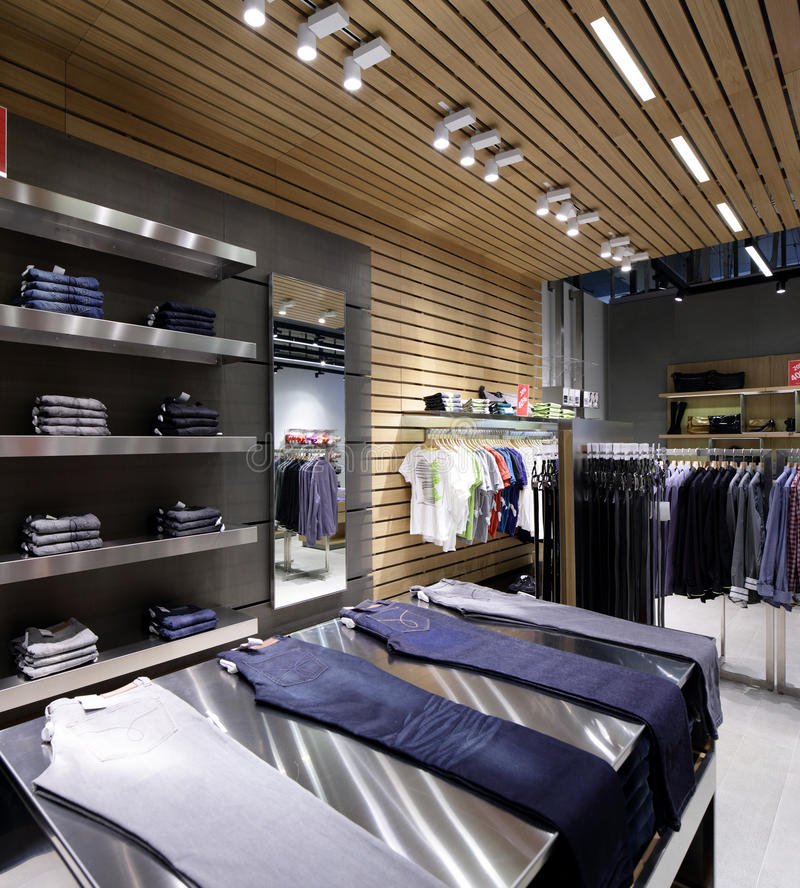 Download Совершенно новый интерьер магазина ткани Стоковое Изображение - изображение насчитывающей коммерчески, способ: 40575661