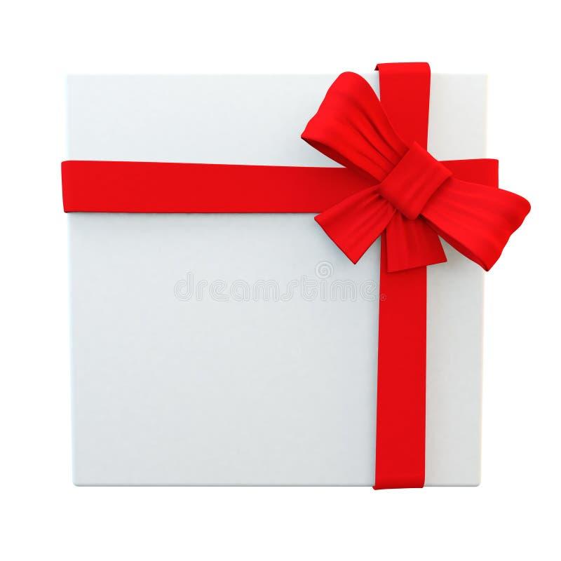 Download Совершенно обернутая белая лента красного цвета Witth подарка Иллюстрация штока - иллюстрации насчитывающей тесемка, отрезок: 40584042