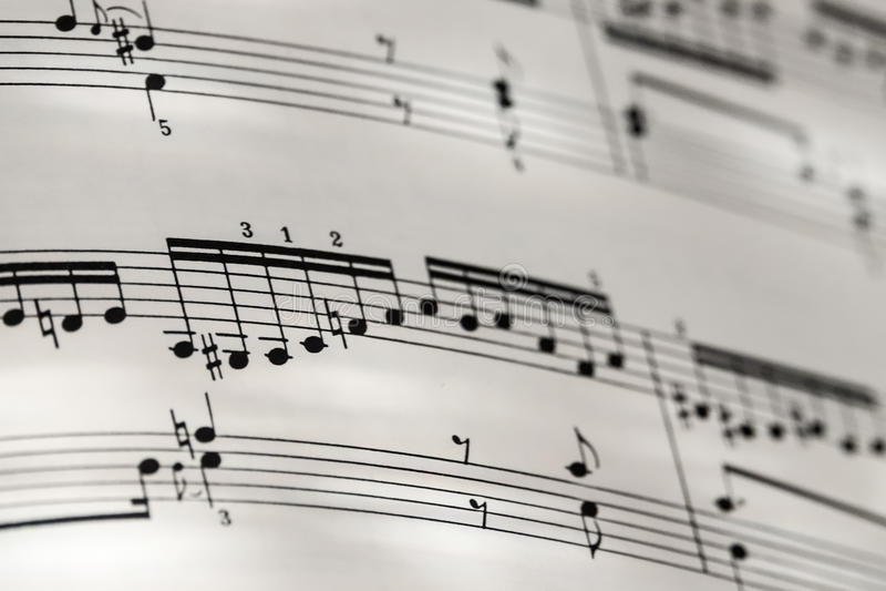 Совершенные глубины Bach Голдберга предпосылки нотации музыки низкие fi стоковое фото