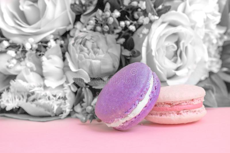 Совершенный десерт свадьбы - сладостные macaroons стоковое изображение
