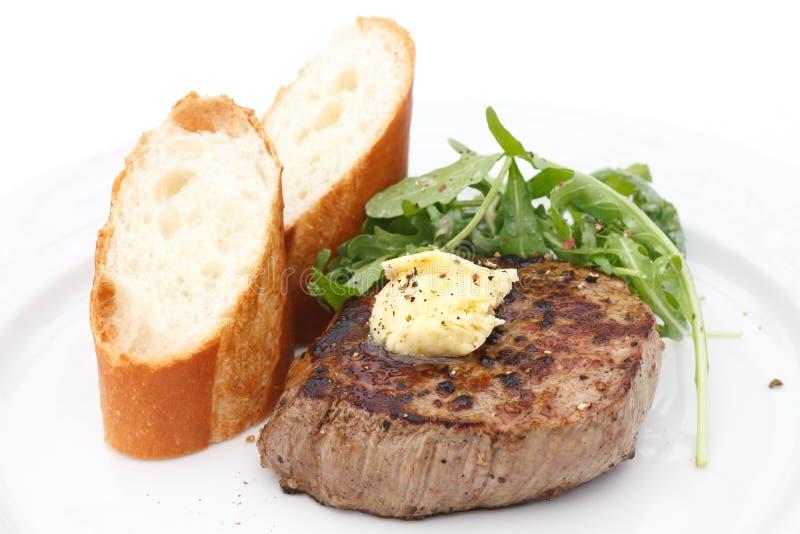Совершенный стейк филе tenderloin свинины жаркого стоковая фотография rf